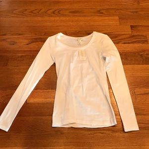 NWT!  Long sleeve white tee
